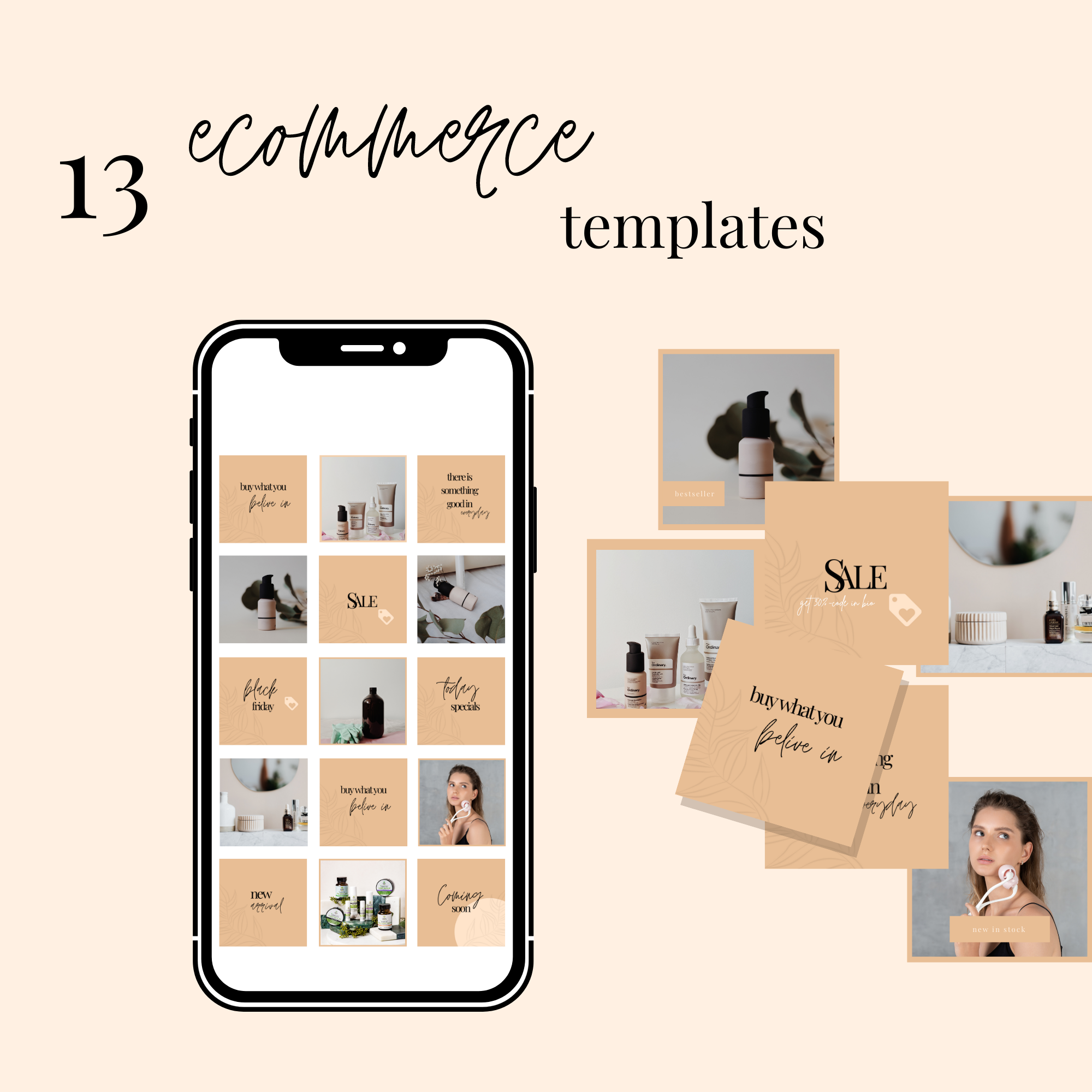 13 E-Commerce Instagram Templates for Canva