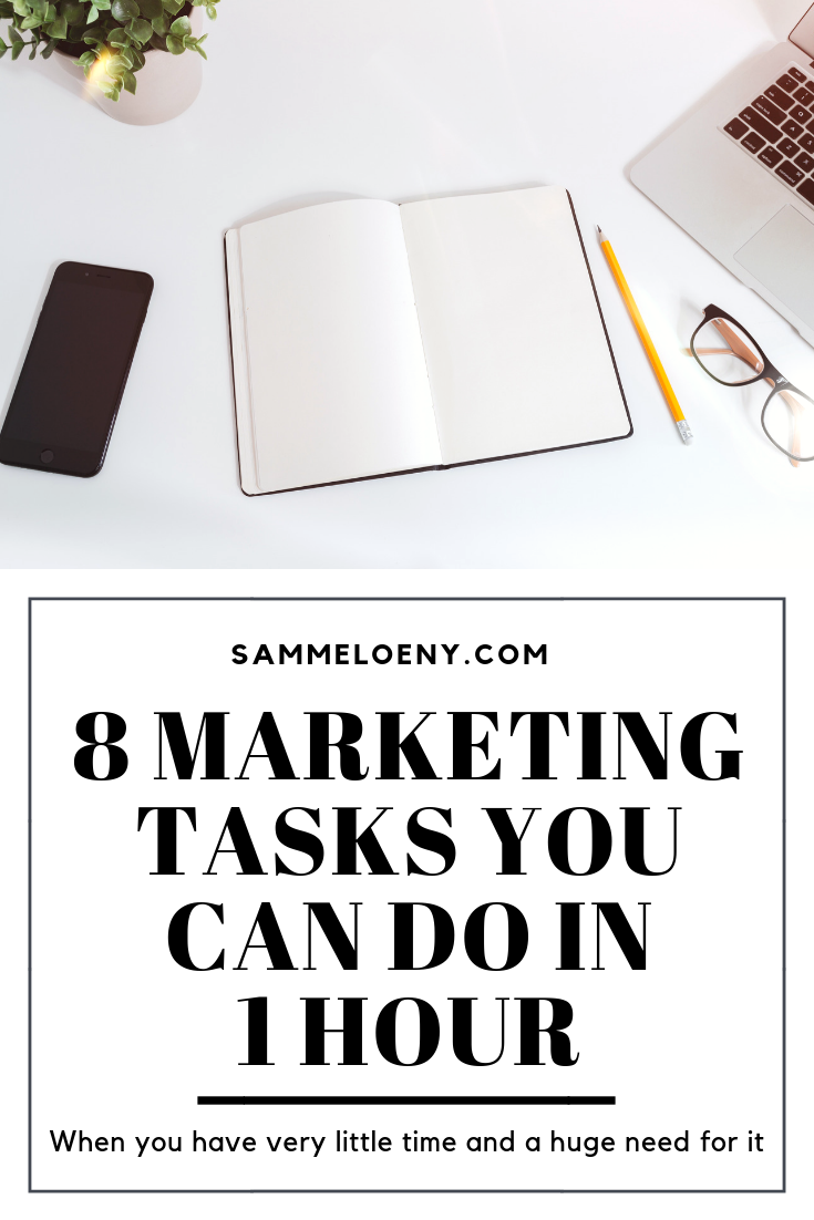 8 Marketing Tasks You Can Do in 1 Hour