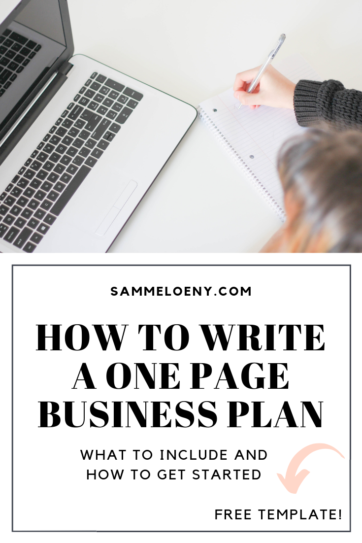 How To Write a One Page Business Plan: What To Include and How To Get Started